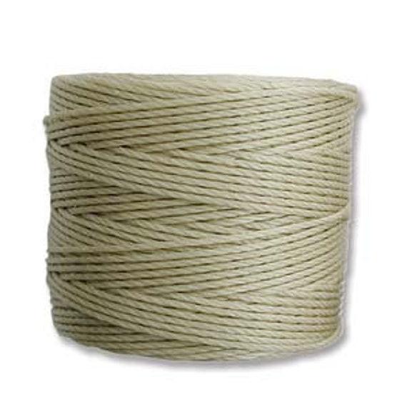 Light Khaki Tex 210 S Lon Beading Cord, 77 yard spool C Lon Beading Cord, Nylon Beading Cord