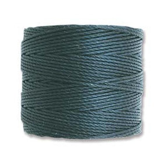 Dark Teal Tex 210 S Lon Beading Cord, 77 yard spool C Lon Beading Cord, Nylon Beading Cord