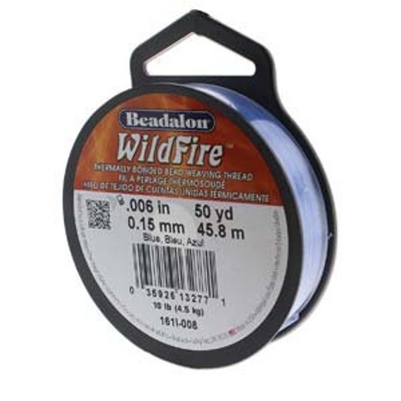 Blue Beadalon WildFire Thread, .008 Inches, .20mm, 50 Yards Per Spool Or 150 Feet, Thermally Bonded Bead Weaving Thread