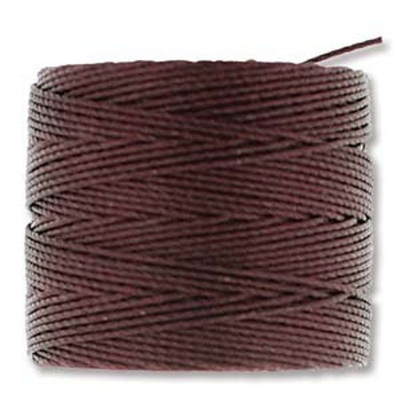 Burgundy Tex 210 S Lon Beading Cord, 77 yard spool C Lon Beading Cord, Nylon Beading Cord