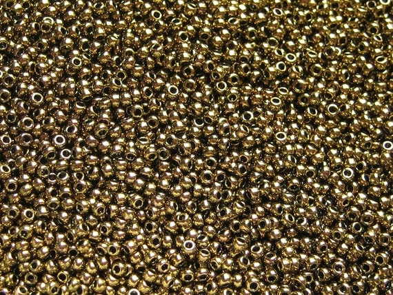 TOHO Anitque Bronze 8/o Round Seed Beads, TOHO Color 223 In 3 Inch Tubes, 14 grams