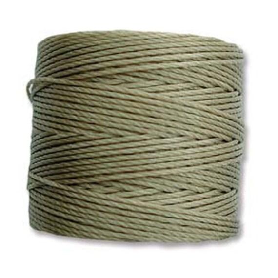 Antique Khaki Tex 210 S Lon Beading Cord, 77 yard spool C Lon Beading Cord, Nylon Beading Cord