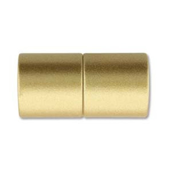 Gold 10mm Magnetic End Cap Clasp, Matte Gold, Acrylic Magnetic Clasp