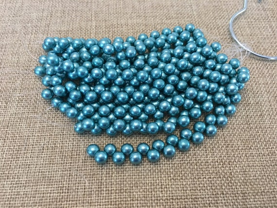 Saturated Metallic Island Paradise 6mm Top Hole Round Beads, Color Trends, 25 Beads Per Strand