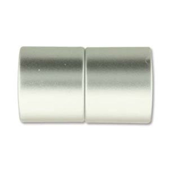 Matte Chrome 12mm Magnetic End Cap Clasp, Matte Chrome, Acrylic Magnetic Clasp