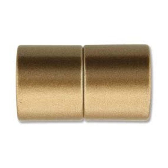 Bronze 12mm Magnetic End Cap Clasp, Matte Bronze, Acrylic Magnetic Clasp
