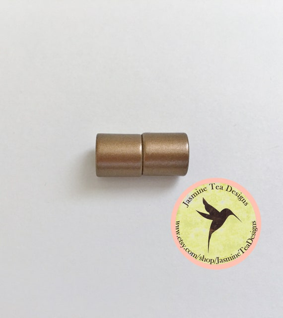 Copper 6mm Matte Magnetic End Cap Clasp, Matte Copper, Acrylic Magnetic Clasp