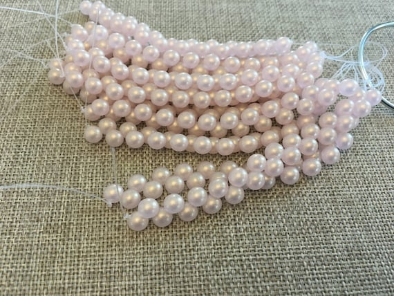 Sueded Gold Rosaline, 6mm Top Drilled Round Beads, 25 Beads Per Strand