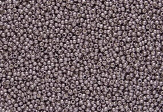 TOHO Lilac Size 11/o Seed Beads, Toho Round Seed Beads, Color PF554, Permanent Finish Galvanized, 3 Inch Tubed