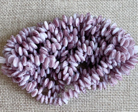 Opaque White Amethyst, 6mm Lentil Beads, 50 Beads per Strand,  Czech Glass Lentil Beads, Single Hole, Top Drilled Lentil Beads