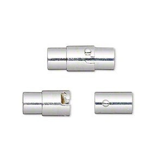 12mm x 4mm Kumihimo Magnetic End Cap Clasp, Magnetic Clasps, Non-Tarnish Magnetic Clasps, Clasps For Kumihimo And Leather, 4mm Opening
