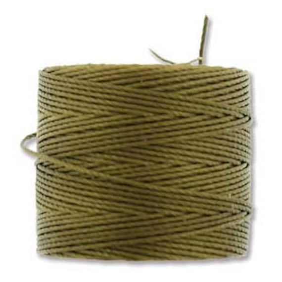 Antique Gold Tex 210 S Lon Beading Cord, 77 yard spool C Lon Beading Cord, Nylon Beading Cord