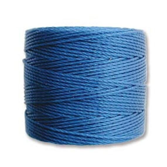 Blue Lagoon Tex 210 S Lon Beading Cord, 77 yard spool C Lon Beading Cord, Nylon Beading Cord