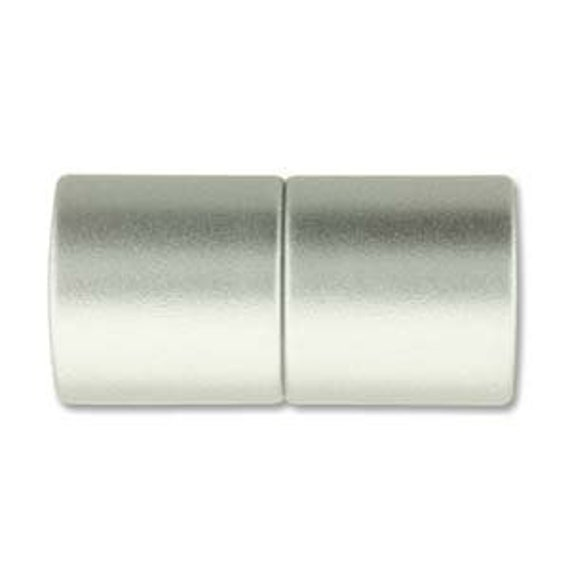 Matte Chrome 10mm Magnetic End Cap Clasp, Matte Chrome, Acrylic Magnetic Clasp