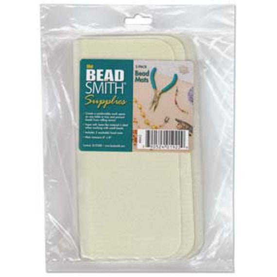 """Bead Mat, Set of Two Bead Mats, 8x8"""" Washable and Super Soft Bead Mats"""
