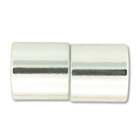 Shiny Chrome 10mm Magnetic End Cap Clasp, Shiny Chrome, Acrylic Magnetic Clasp