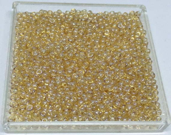 TOHO Size 11 Champagne Transparent Luster, Size 11/o Seed Beads, Toho Round Seed Beads, 3 Inch Tubed, Autumn's Luster Seed Bead