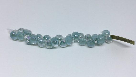 Brilliant Bubbles Unicorne Beads, Boro Teardrops, 25 Beads Per Strand