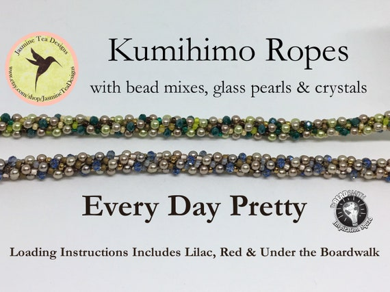 PDF Kumhimo Pattern, Every Day Pretty Beaded Kumihimo Necklace Loading Instructions, Kumihimo Textured Ropes, Instant Download