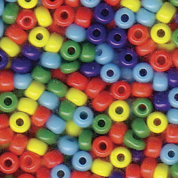 Miyuki Size 8 Opaque Rainbow Blend, Size 8 Seed Bead Mix in Blue, Red, Yellow Tones, Miyuki Seed Bead Mix, 5 Inch Tubes, 22 Grams