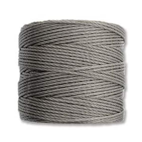 CocoaTex 210 S Lon Beading Cord, 77 yard spool C Lon Beading Cord, Nylon Beading Cord