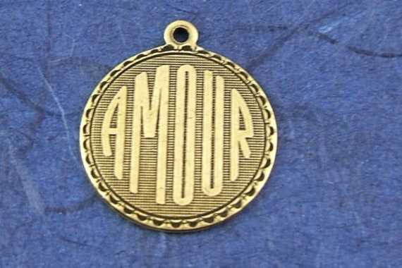 Amour Charm, Trinity Brass Antique Gold, This listing is for 16 Individual Amour Charms, Set of 16