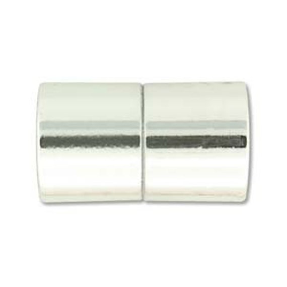 Shiny Chrome 12mm Magnetic End Cap Clasp, Shiny Chrome, Acrylic Magnetic Clasp