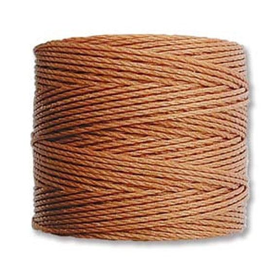Copper, Nutmeg Tex 210 S Lon Beading Cord, 77 yard spool C Lon Beading Cord, Nylon Beading Cord