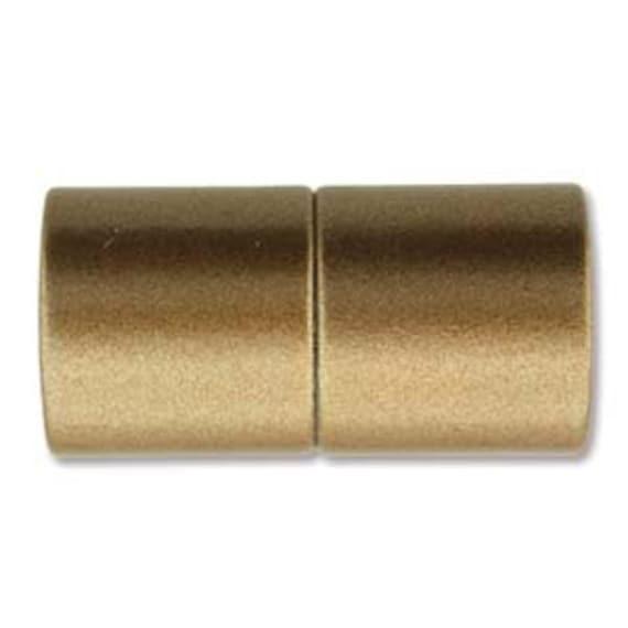 Bronze 10mm Magnetic End Cap Clasp, Matte Bronze, Acrylic Magnetic Clasp