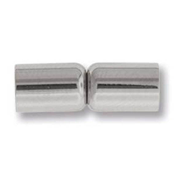 4mm Stainless Steel Magnetic Clasps, Non-Tarnish Magnetic Clasps, Clasps For Kumihimo And Leather