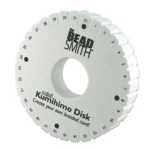 20mm Thick Mini Foam Kumihimo Disk, 32 Slot Round Kumihimo Disk, 4.25 inches Round Kumihimo Disk, Provide Excellent Bobbin Tension