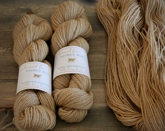 """Roubaix Wool's """"Flower"""" -  Naturally Dyed Yarn -  2-ply fingering wt. - CVM wool - Kid Mohair - Colorway Dogwood"""