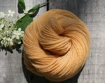"Roubaix Wool's ""Summer"" -  Hand Dyed Yarn -  2-ply - CVM wool - Alpaca - Kid Mohair - colorway Peaches"