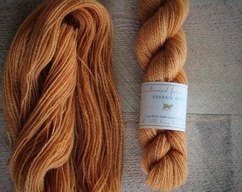 """Roubaix Wool's """"Flower"""" -  Naturally Dyed Yarn -  2-ply fingering wt. - CVM wool - Kid Mohair - Colorway Dalhia II"""