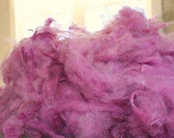Angora Fiber - gently hand sheared - kettle dyed