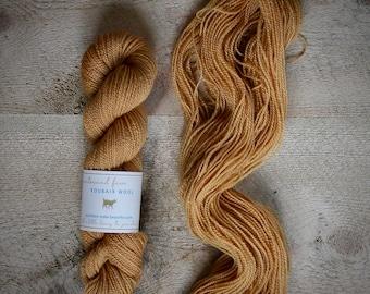 "Roubaix Wool's ""Flower"" -  Naturally Dyed Yarn -  2-ply - CVM wool - Kid Mohair - Colorway Dahlia I"