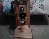 Vintage Brown Wood Rotary Wall Telephone Country Store Decor Country Farmhouse Works Perfectly