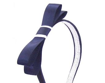 Preppy Embroidered Bow Bridgerton Bow Velvet Bow Classy Bow Barrette Woman/'s Heart Bow Blair Gossip Girl Bow Soft Black Barrette