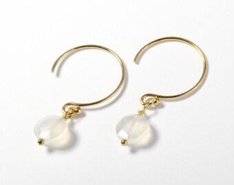 """""""Rosie"""" Earrings in Linen"""