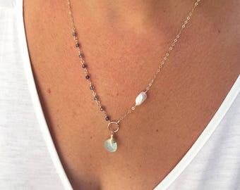Land & Sea Asymmetrical Necklace