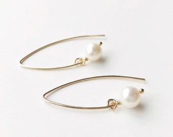 """Silk White"" Earrings"
