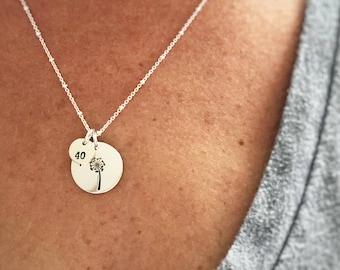 Birthday Necklace, Wish Necklace, 40th Birthday Gift, Birthday Jewelry Gift, Birthday Gift, Birthstone Necklace, Birthday Jewelry, Birthday