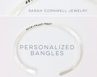 "Personalized ""Claire"" Bangle"