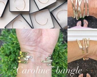 """Caroline"" Bangle with Initials"