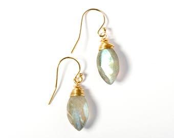 Gemstone Earrings, Labradorite Earrings, Earrings Labradorite, Stone Earrings, Gold Earrings, Everyday Earrings, Dainty Gold Earrings, Gem