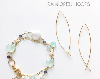 Sanibel  Double Bracelet & Rain Earrings