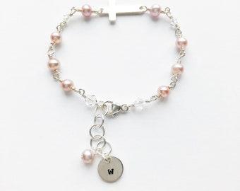 Girls Center Cross Bracelet
