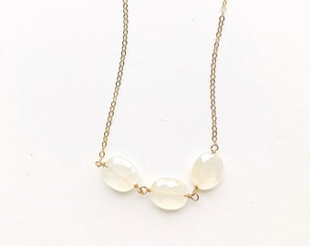 Off White Necklace