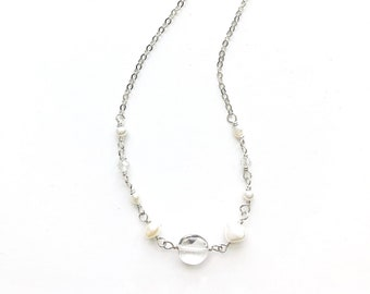 Dove White Necklace