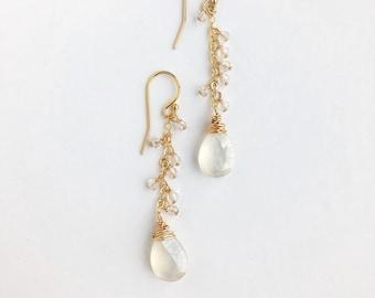 Sparkle White Earrings
